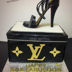 LV Black Sugar Stiletto Box cake