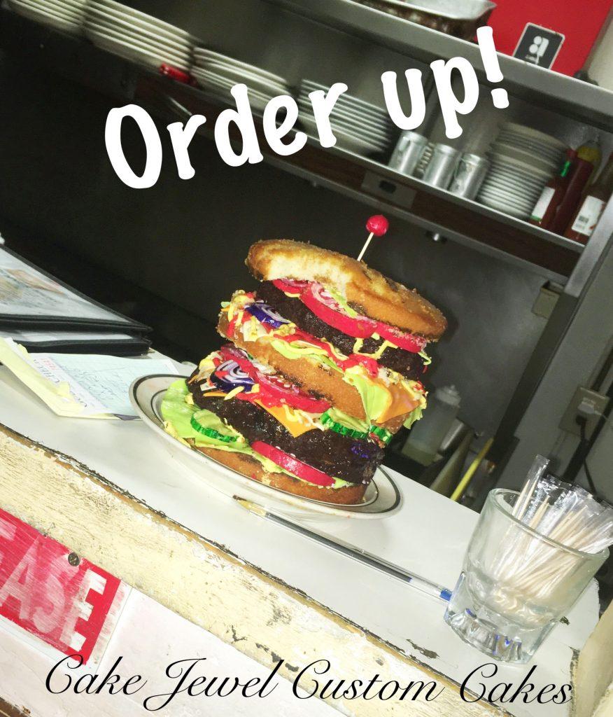 Double Decker Burger Cake