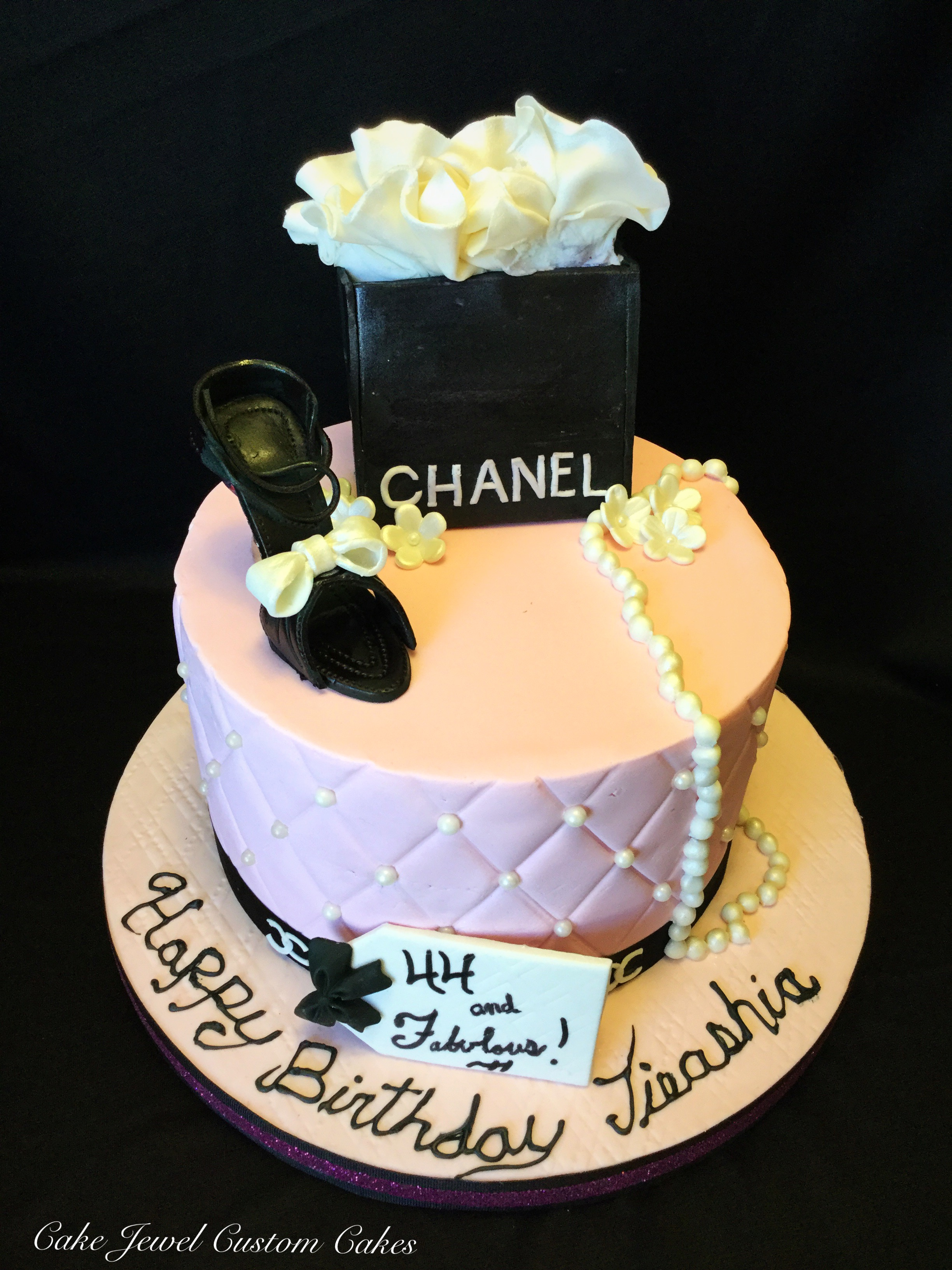 Pink Chanel Cake