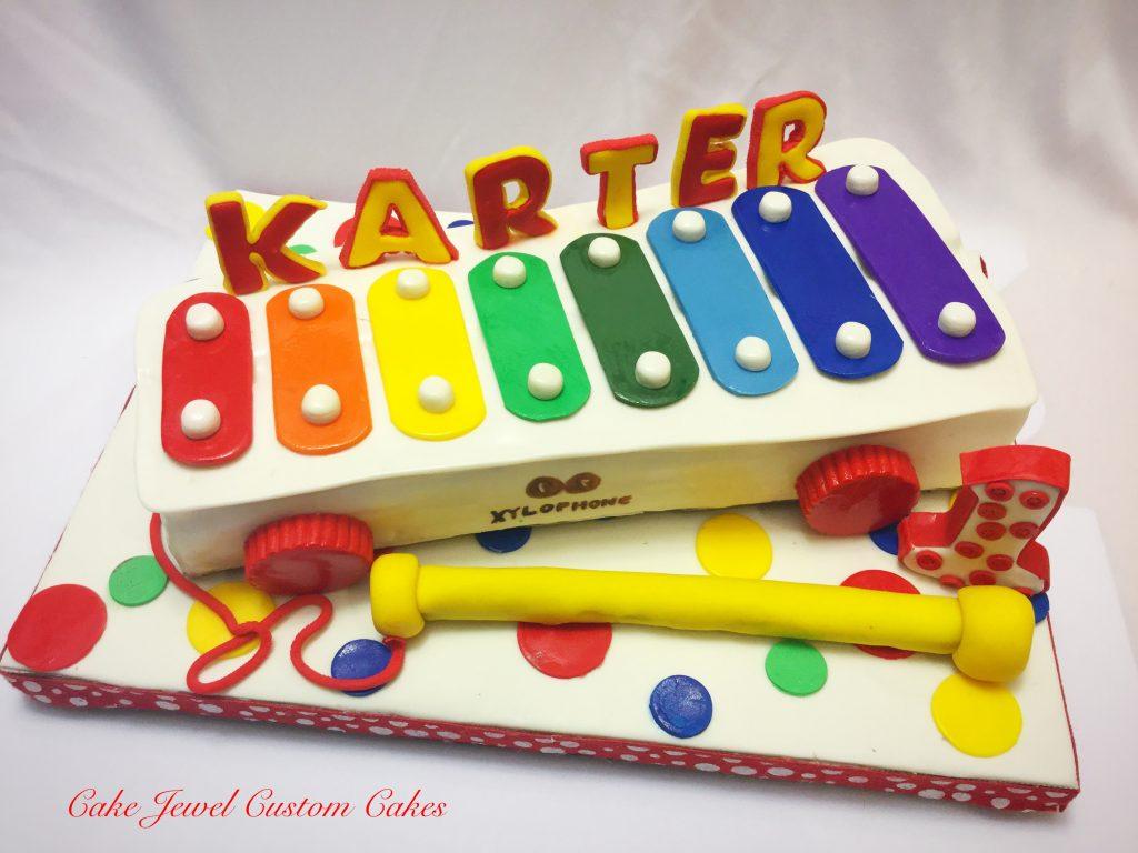 Xylophone toy cake