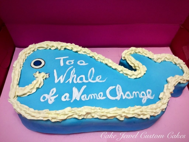 Simpsons whale cake