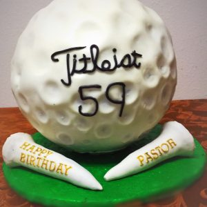 Huge Golf ball cake