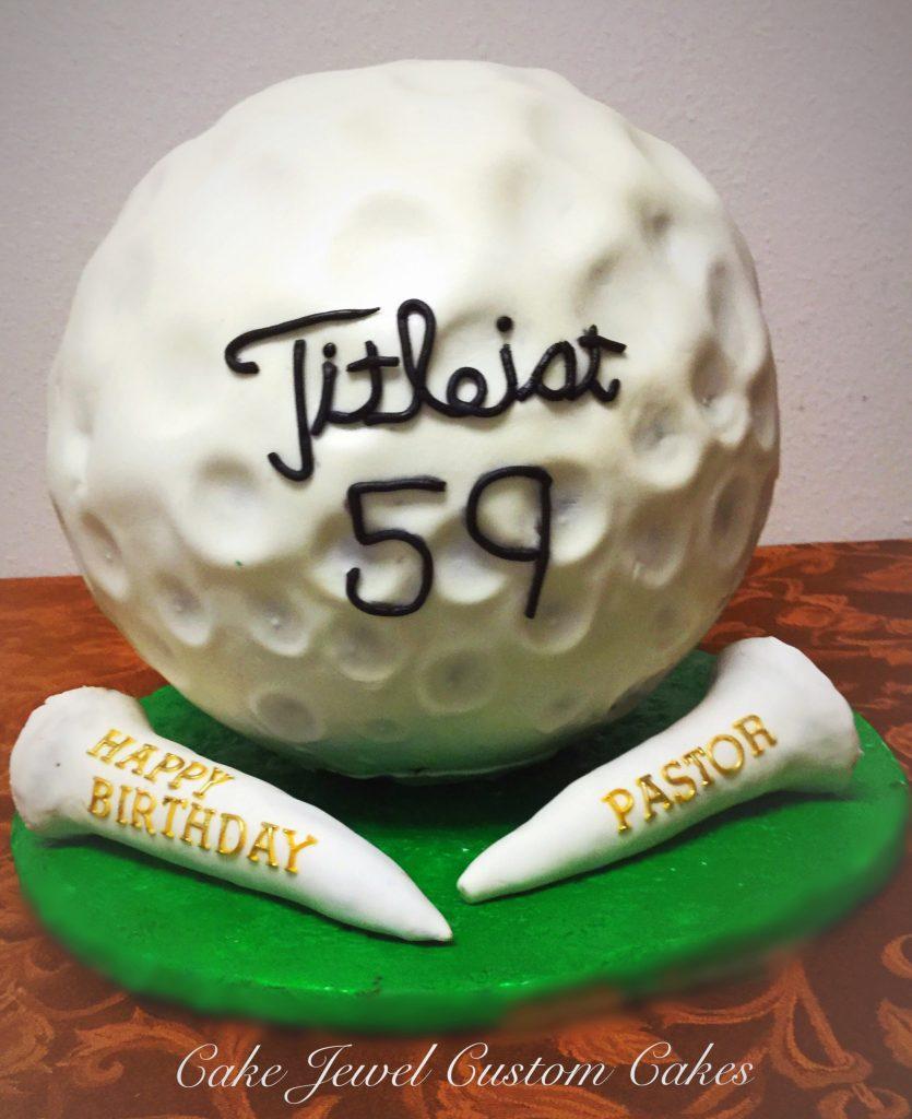 Gigantic golf ball cake