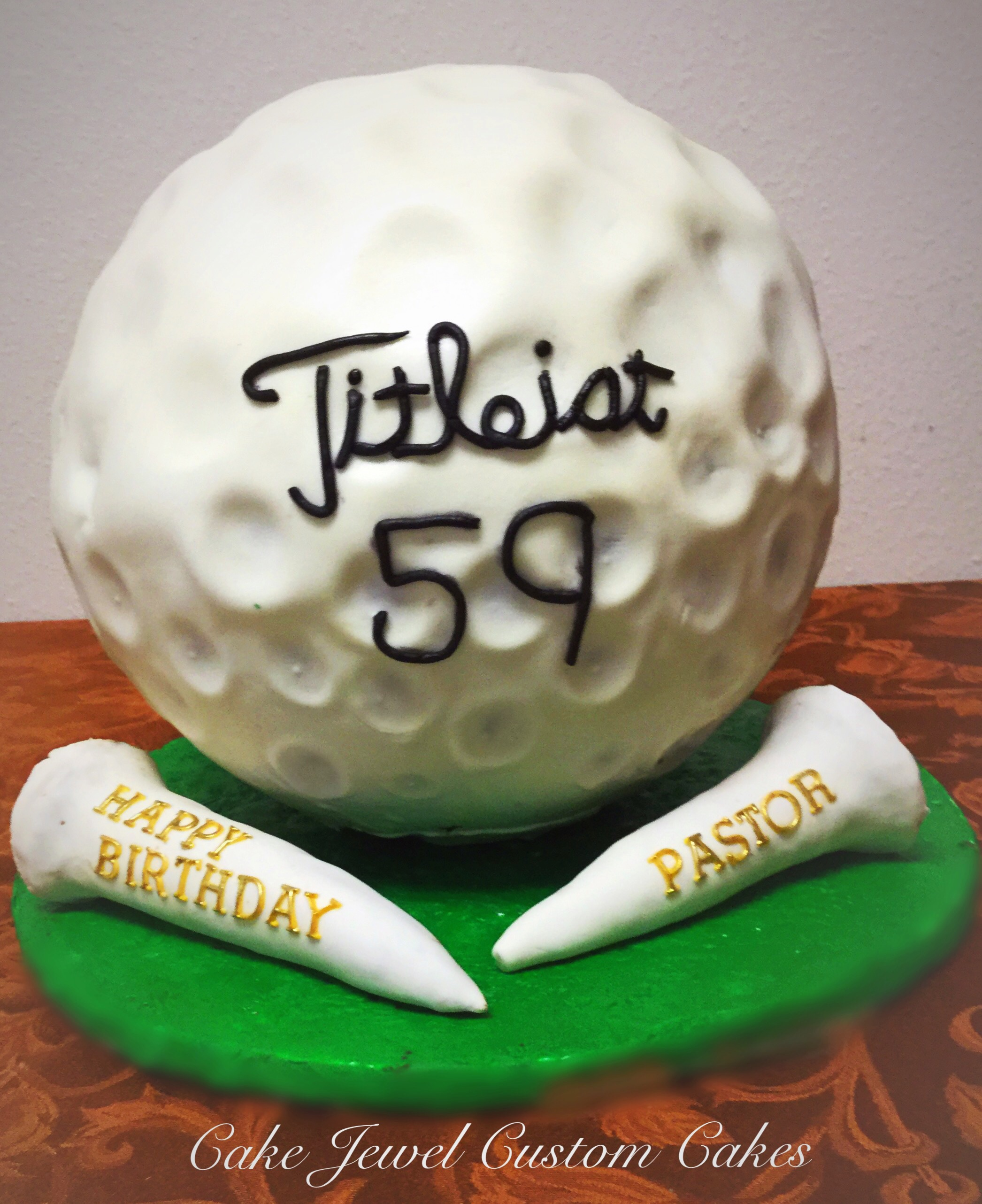 Gigantic golf ball cake
