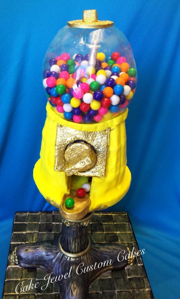 Bubble machine cake