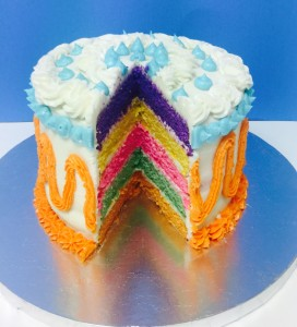 Rainbow Layers Cake