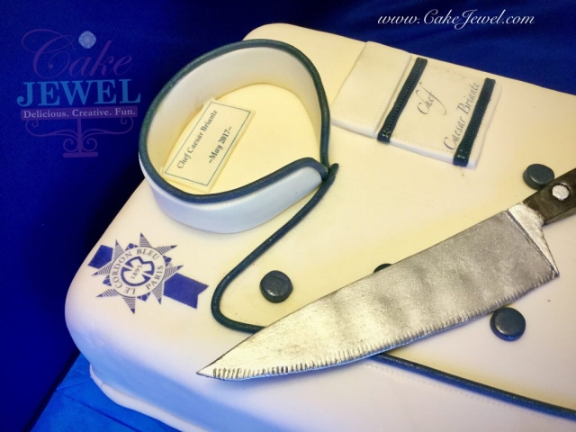 Chef Coat Cake With Knife