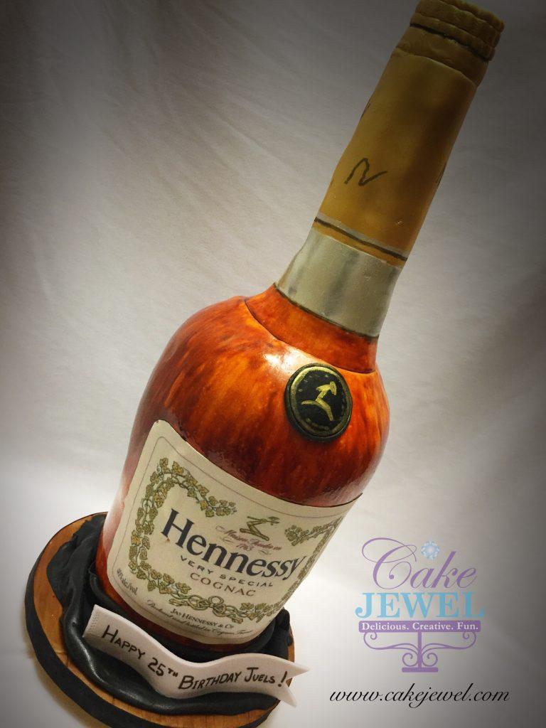 3D Hennessy bottle novelty cake