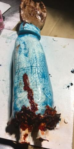 Halloween Severed Arm Cake