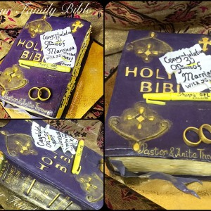 The old family bible cake