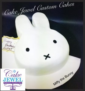 Miffy the Bunny Cartoon cake