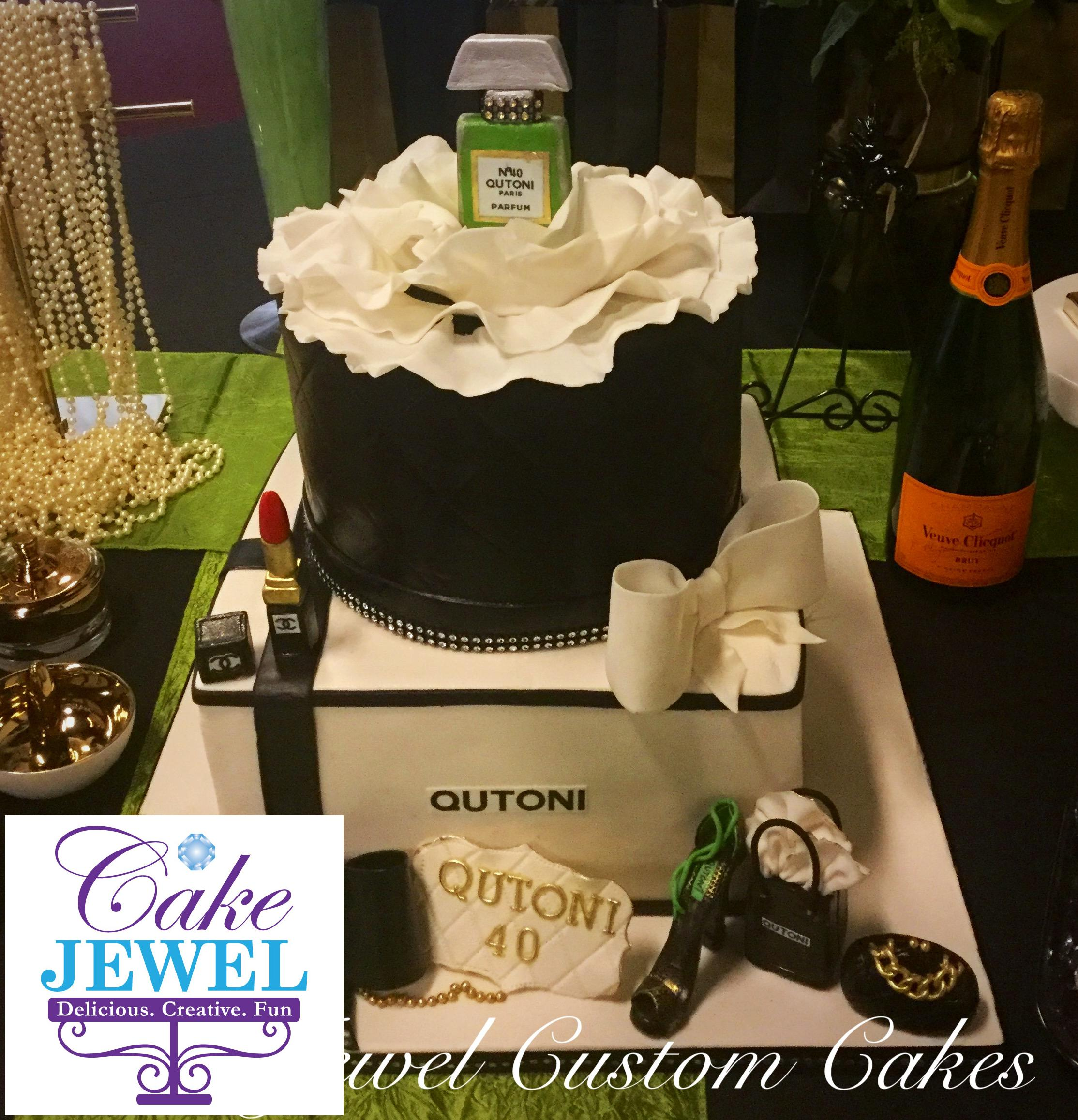 Coco Chanel Purfume and accessories cake