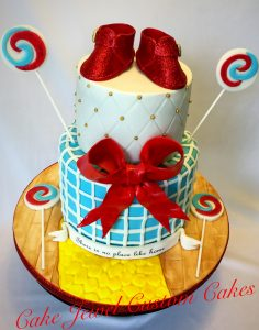 Lolli Pop Guild and Ruby Slippers Cake
