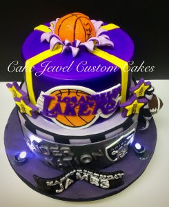 Lakers and Raiders Inspired Cake