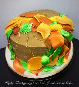 Autumn Leaves Buttercream Cake