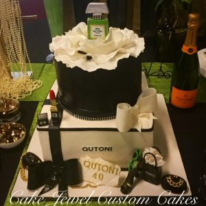 Black and White Chanel Cake