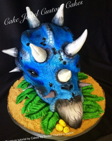 Triceratops Head Cake