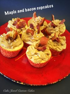 Maple, caramel and bacon cupckaes