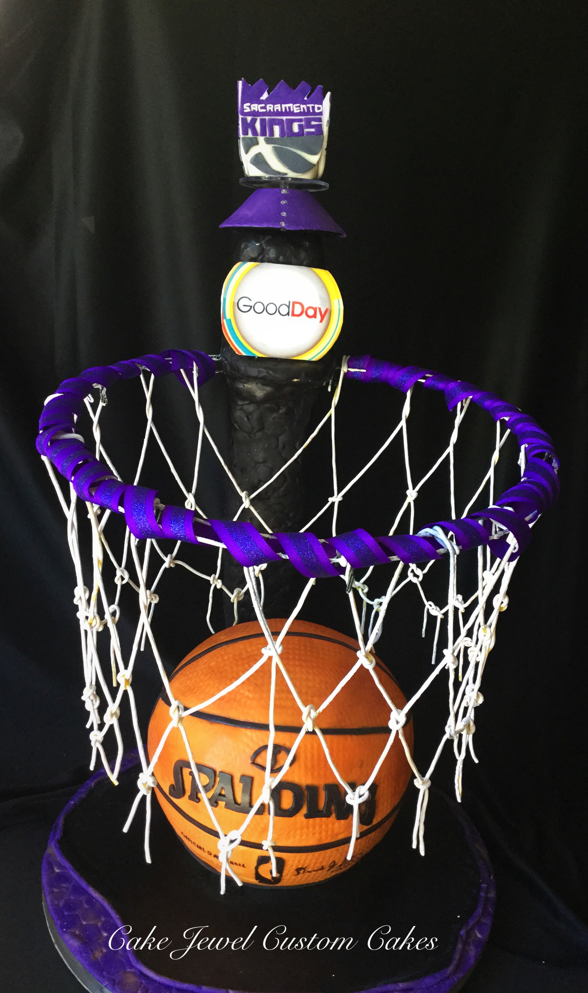 3D Basketball and Hoop Cake