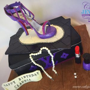 Designer Shoe box and Shoe Cake