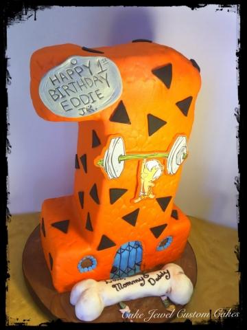 Flintstone 3D number 1 Cake