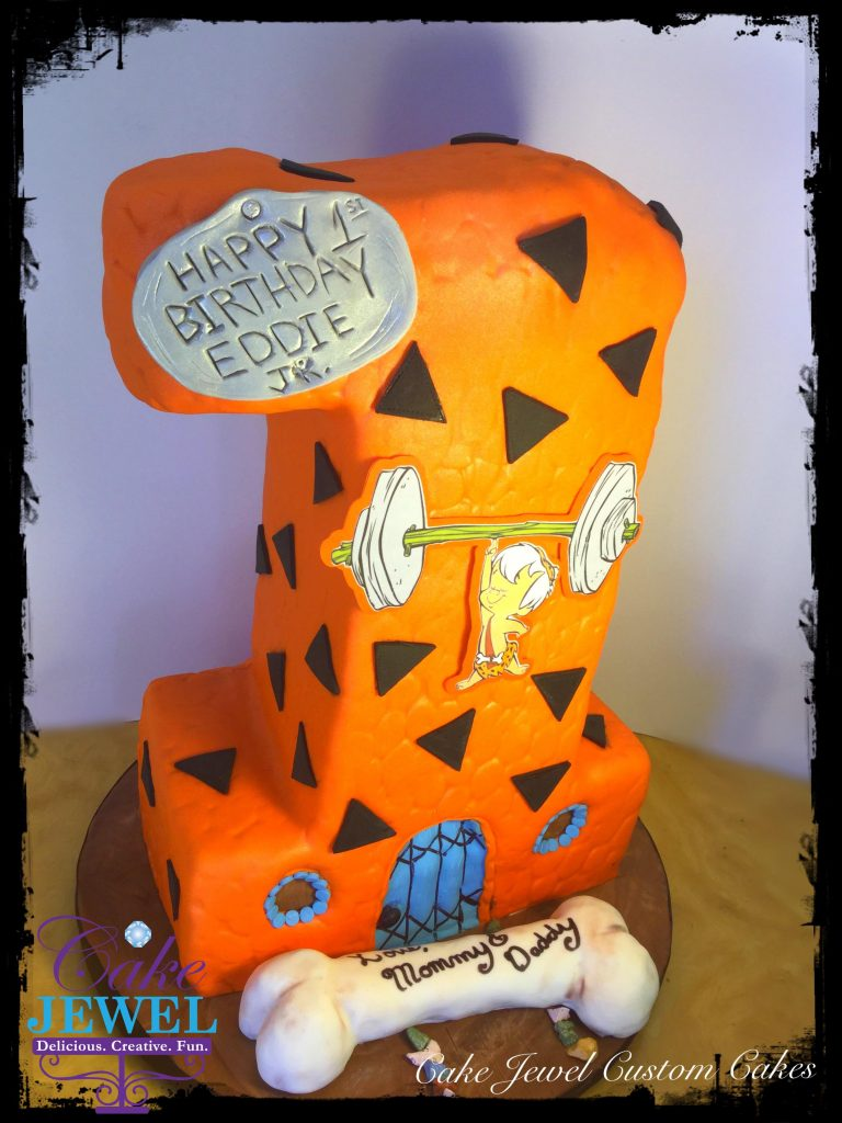 Flintstones Theme First Birthday Cake