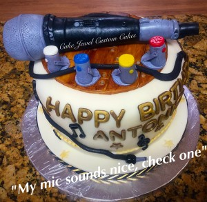 Microphone and Lights Cake