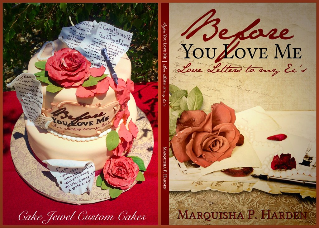 Roses and Poems Book Cake