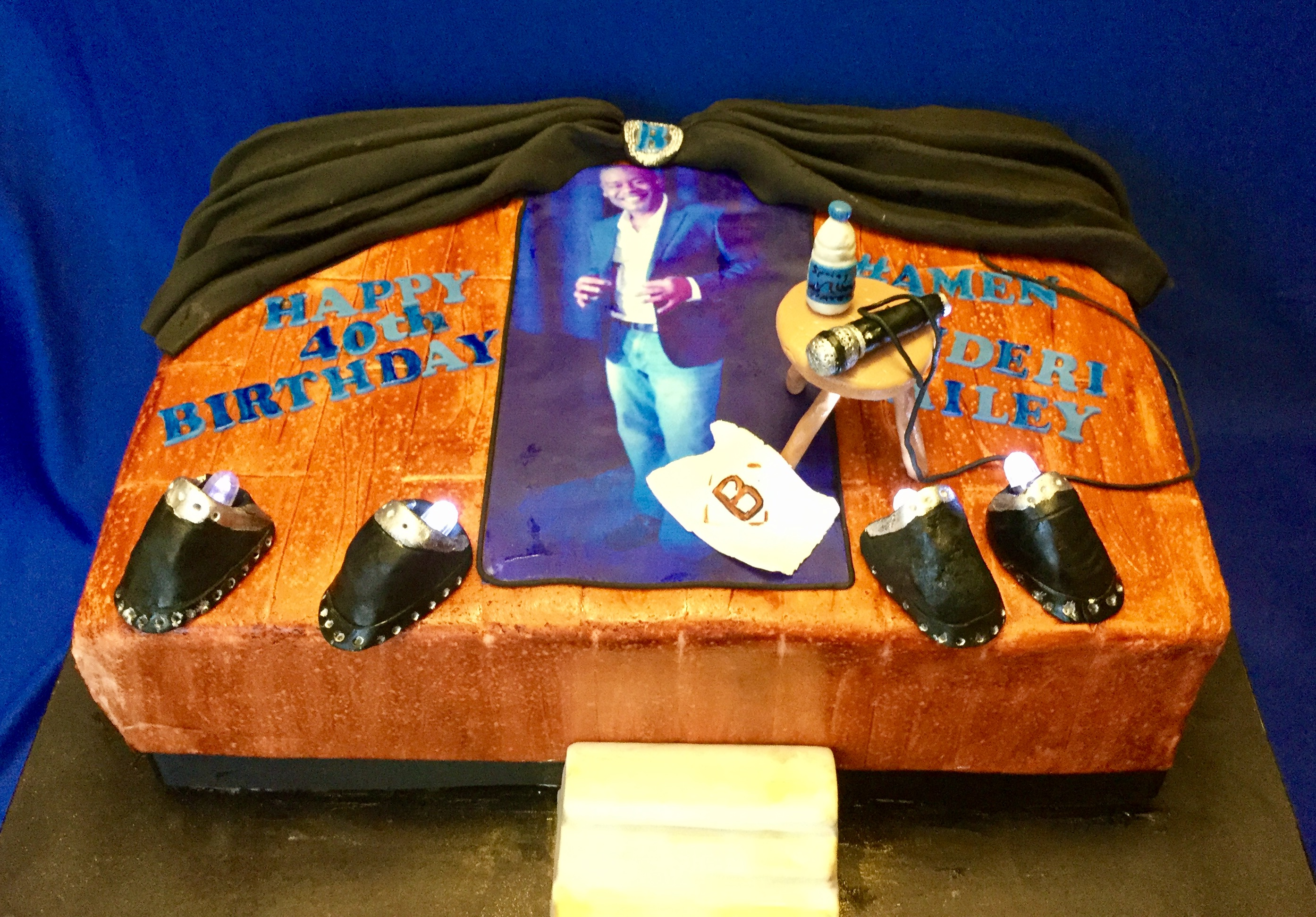 Comedy Stage Cake with Spotlights