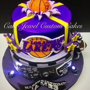 Basketball and Football Cake
