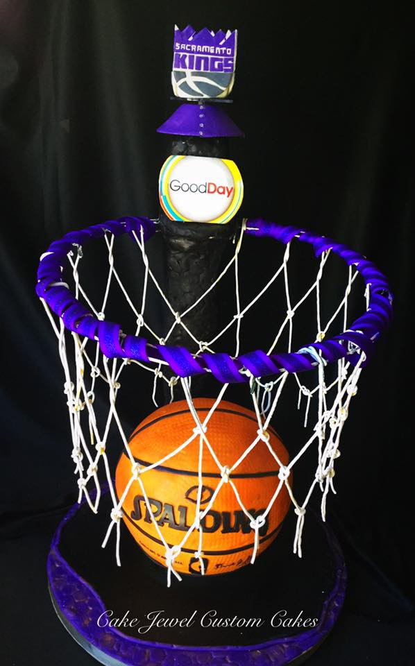 Basketball Cake with Licorice Hoop