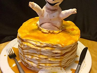Pancakes and Ham Cake