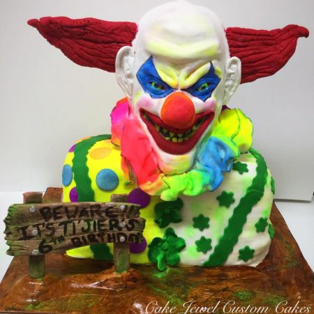 Scary Clown Glow in the Dark Cake