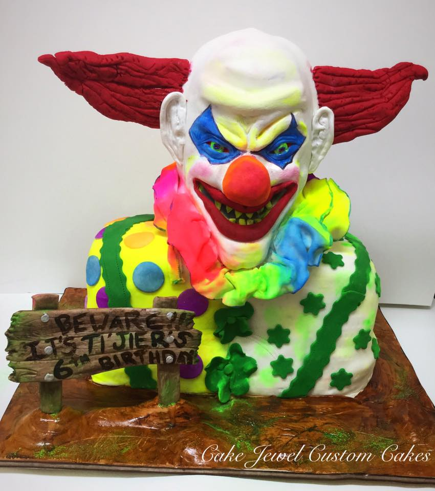 Incredible Scary Clown Cake Funny Birthday Cards Online Inifofree Goldxyz