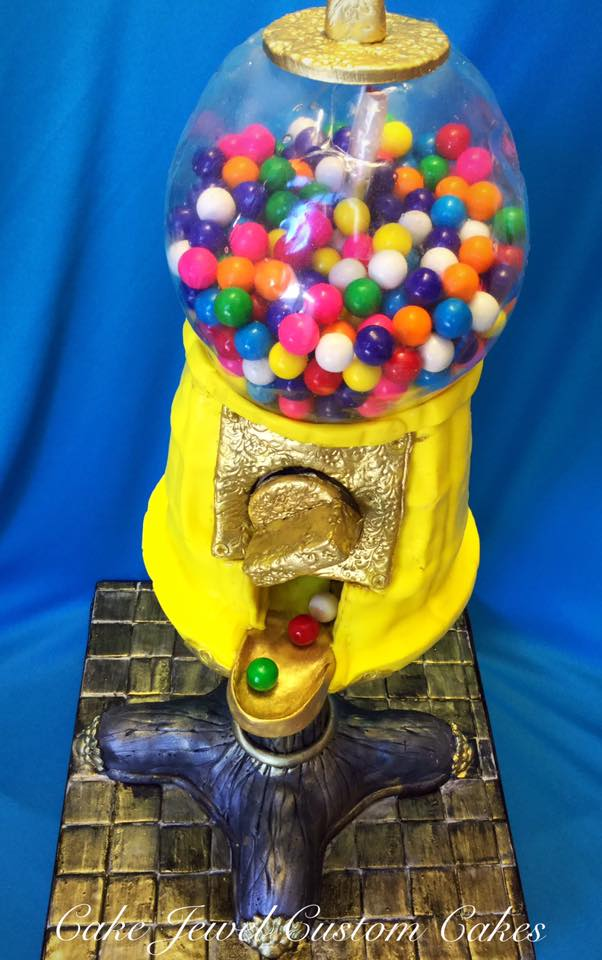 Classic Working Bubble Gum Machine Cake
