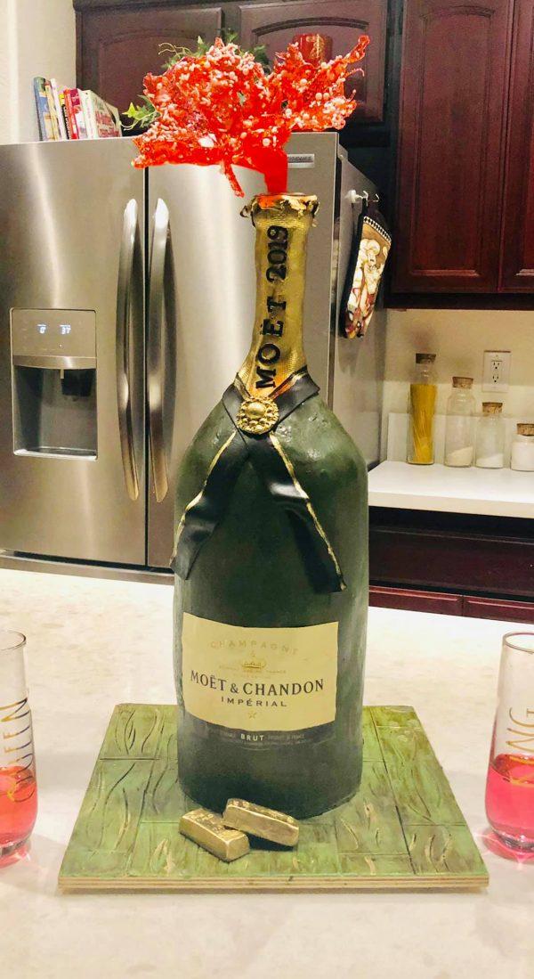 Champagne Splash Cake