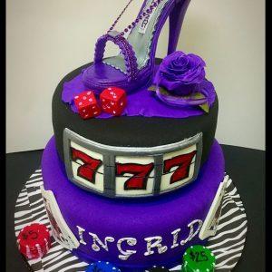 Lucky 7 and Stiletto Cake