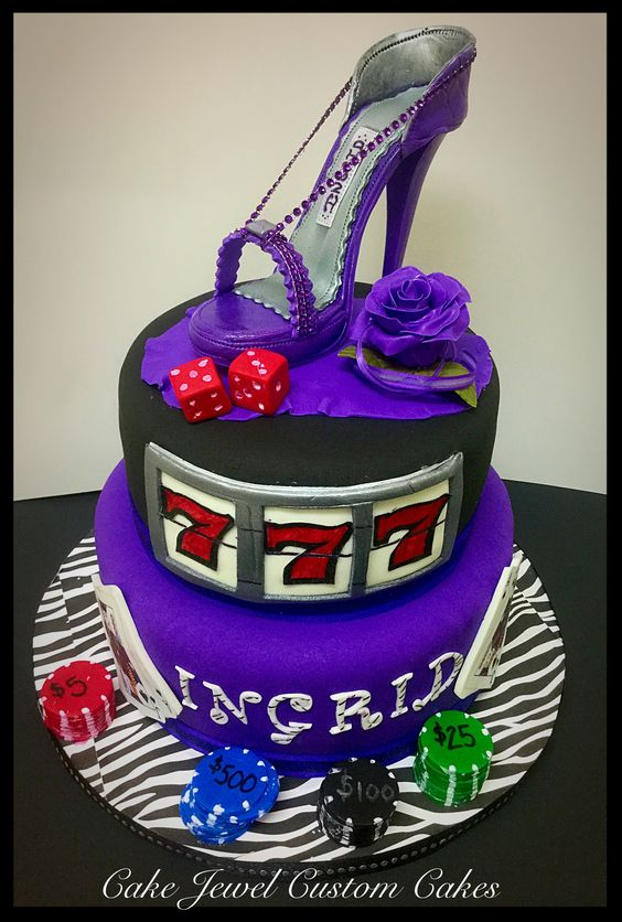 Lucky 7 and Stiletto Cake