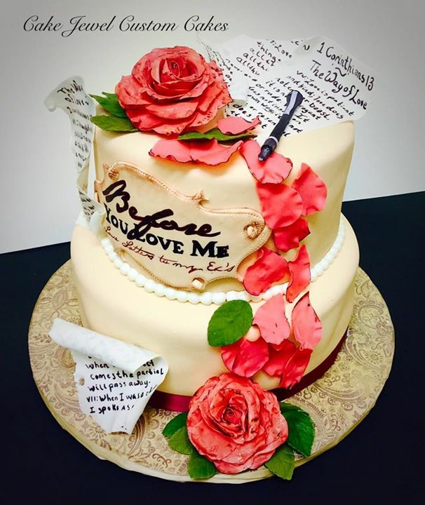 Roses and Poems Cake