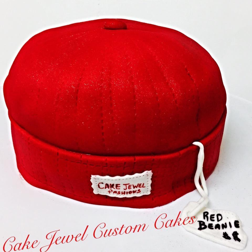 Knit Beanie Cake