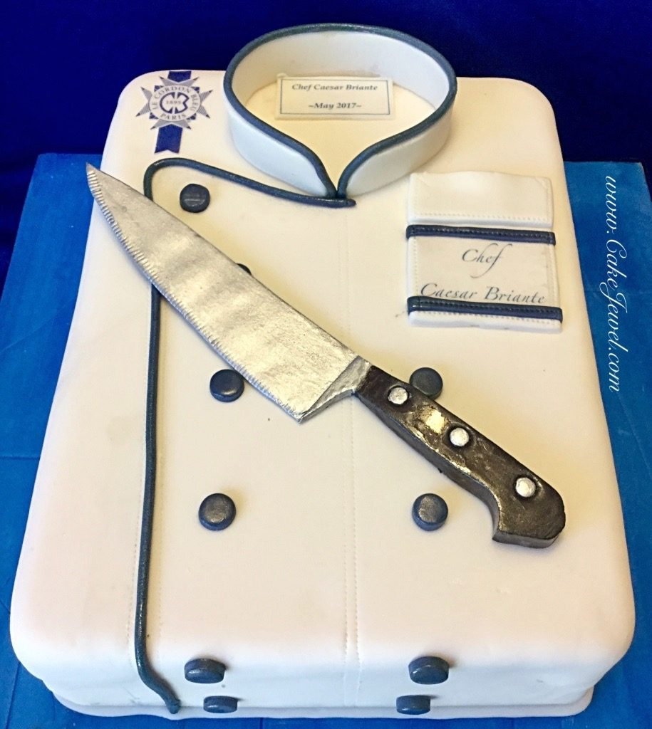 Chef's Coat Cake and Knife