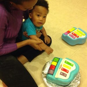 Playing with Toy Piano Cake