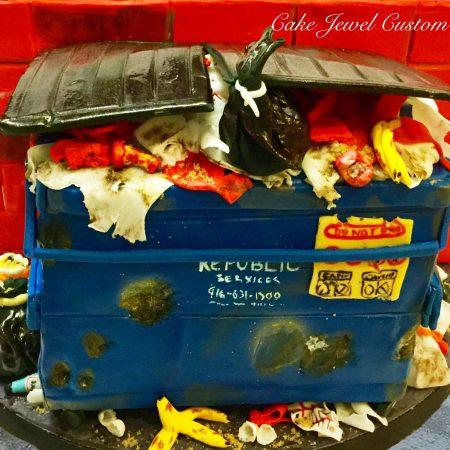 Messy Garbage Bin Cake