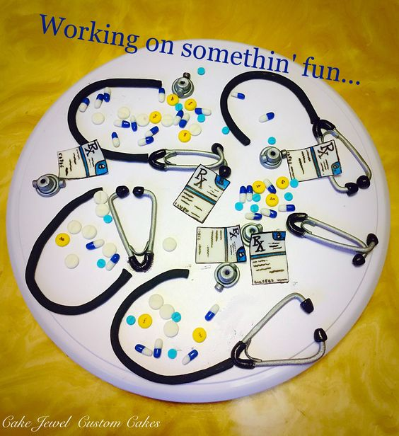 Physician cake fondant accessories