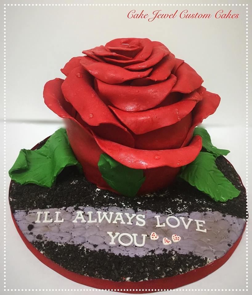 Gigantic Rose Cake with modeling chocolate petals