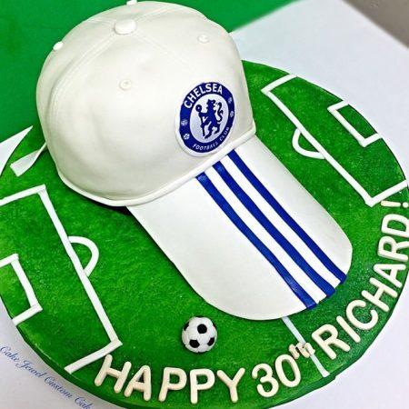 Soccer Hat Cake