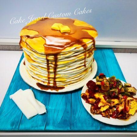 Gigantic pancake Cake