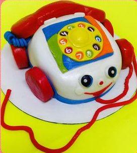 Toy Phone Cake
