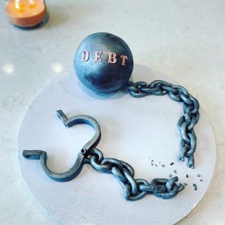 I'm Debt Free cake